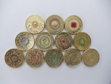 All 12 COLOURED $2 Australian coins - CORONATION,ANZAC,POPPY,OLYMPIC,PARAOLYMPIC