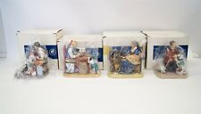 Lot of 4 Norman Rockwell Museum Figurines w/ Original Boxes Americana B5766