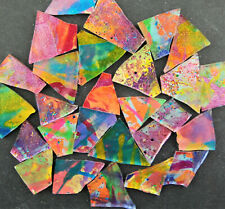 MULTICOLOR Mosaic Glass: 100 pieces of COLOR PARTY with glitter by Makena Tile