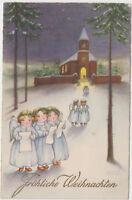 DG 290. Weihnachten ca.1930 ! Engel an Kirche ! Künstler Hannes Petersen !