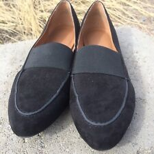 Solanz Torrid Black Suede Slip On Women's Shoes Flats Loafer Size 8.5 M PreOwned