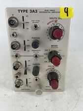 Vintage Tektronix Type 3a3 Dual Trace Differential Amplifier Plug In