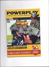 DEL Eishockey Programm: NÜRNBERG ICE TIGERS - ADLER MANNHEIM 10.09.1999