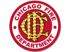 4x4 inch ROUND Chicago Fire Department Seal Sticker - logo firefighter cfd dept