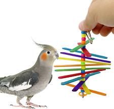 868 MINI STICK BIRD TOY parrot cage craft toys cages cockatiel parrakeet budgie