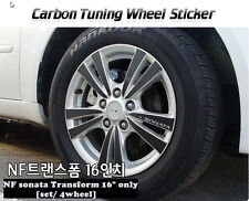 "Carbon Tuning Wheel Mask Sticker For  Hyundai NF sonata Transform 16"" [2007~09]"