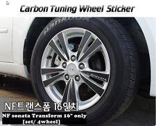 "Carbon Tuning Wheel Mask Sticker For  Hyundai NF sonata Transform 16"" [2007~09]"