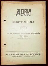 Agria rotierende Einradhacke 1100 Ersatzteilliste
