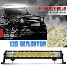 Quad-Row 22inch 2880W  Straight LED Light Bar Spot Flood Truck Offroad  4x4