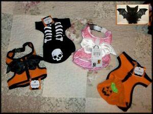 "FETCHWEAR Pet Dog Cat Hooded Pumpkin Harness Top  XS/S 12-14""  FREE SHIP + GIFT"