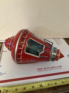 Vintage Red Tin Friendship 7 Space Capsule Toy John Glenn Hishimo Sangyo Japan
