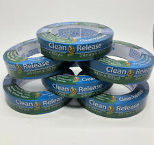 """Lot of 6 Rolls Duck Clean Release Blue Tape .94"""" x 60 Yds **NEW SEALED**"""
