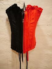 Steampunk Lace up Overbust Corset Top Bustier Cosplay Waist Cincher Zip Small