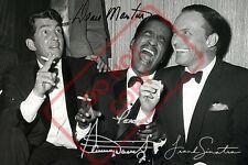 Kino Autogramme & Autographen The Rat Pack Sammy Davis Jr Frank Sinatra Signed Autograph A4 Photo Memorabilia
