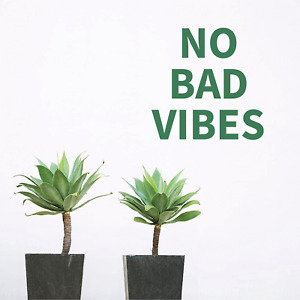 NO BAD VIBES - Quote Removable Vinyl Wall Decal Stickers Home Decor Art