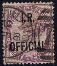 QV 1882 1d Lila SGO3 Hacienda oficial Usado En Buen Estado