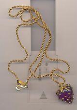 Studded Strawberry Necklace Kenneth Lane Purple Acrylic