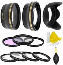 Camera Lens Filter Accessory Kit For Canon EOS M5 M6 M10 M50 M100 W/ 15-45mm