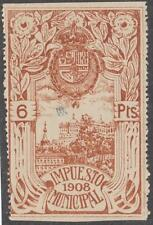 Spain Madrid Municipal Impuesto Revenue Forbin #222 MNH 6p 1908