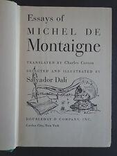 Essays/De Montaigne w/ Dali illustrations'47;Revue de la Pensée FrançaiseINV2145