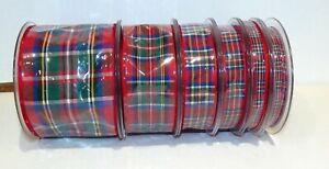 Tartan Ribbon by Berisfords Royal Stewart Choose from 6 widths and 4 lengths