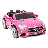 12V Powered Kids Ride On Toy Car Wheel Remote Control Licensed Mercedes S63 Pink