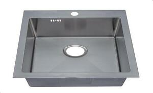 560x500mm 1 Bowl Handmade Inset Sink with Tap Hole & Easy Clean Corners DS026-1