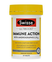 Swisse Ultiboost Immune Action with Andrographis 60 Tabs for Immune Support