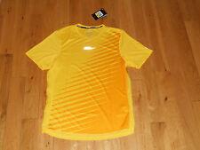 Nwt Nike Dri-Fit Mens Running Shirt Size Small Yellow Reflective Nike Run