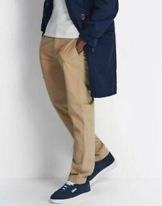 Lyle & Scott Men Cotton Textured Cord Casual Beige Chino Trousers Khakis 28-36