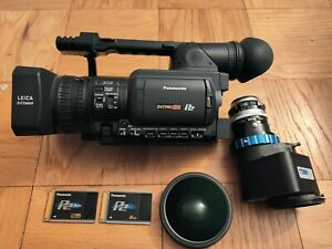 Panasonic HVX200, letus ultimate, 16x9 wide angle lens, battery, charger, power