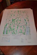 1940's Army (like USGS) topographic map Honeoye New York -5469 I SE Hemlock