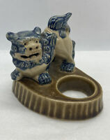 Vintage Chinese Porcelain Foo Dog Lion / ball holder , missing parts