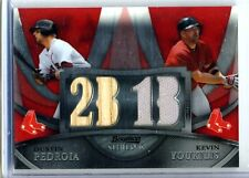 Dustin Pedroia and Youkilis 2010 Bowman Sterling Relic Red Parallel Card #1 /1