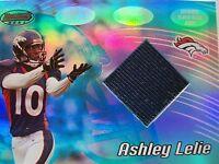 2002 BOWMANS BEST ASHLEY LELIE # 104 GAME JERSEY  BRONCOS   BOX114