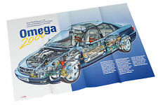 Opel Omega 2000 Poster Beilage Opel Start Auto Pkw Deutschland passenger car