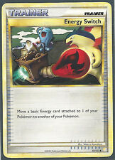 4X ENERGY SWITCH  91/123 HeartGold SoulSilver Pokemon CARD MINT