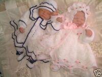 CROCHET PATTERN****LITTLE STARS, TWIN BABY MATINEE SETS