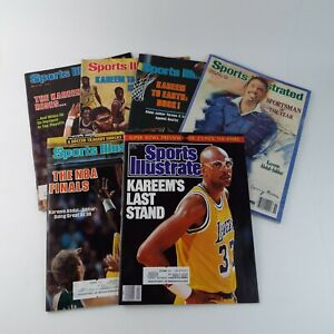 Sports Illustrated Magazine 1970s/80s NBA  Karreem Abdul-Jabbar Lakers Lot Of 6