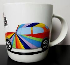 Volkswagon Brisa Love that Bug Coffee Mug Cup Rainbow