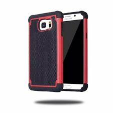 Red Hybrid Rugged Rubber Matte Hard Case Cover For Samsung Galaxy S7