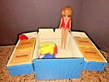 VINTAGE BARBIE SKIPPER DOLL #2 c1963, #0950 WITH ORIGINAL CARRY CASE AND CLOTHES