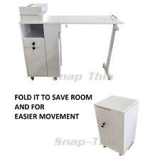 NAIL ART MANICURE PORTATILE mobile scrivania tavolo tecnico SALONE BIANCO STAZIONE DI LAVORO