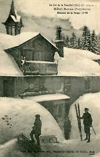 Carte GEX Au Col de la Faucille Hôtel Royer Hauteur de la neige 3M90 Skieur Luge