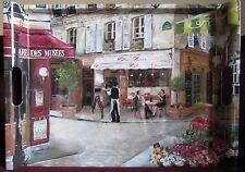 Grand Plateau avec poignées 52x37 cm Rue de Paris bistrot Tray Nuova R2S