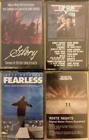 4x LOT 1980s Soundtrack Cassettes Top Gun Glory White Nights Fearless VG fr/shpg