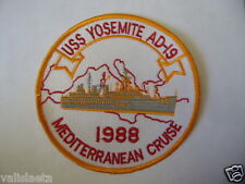 US NAVY PATCH USS YOSEMITE AD-19 1988 MEDITERRANEAN CRUISE