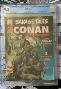 SAVAGE TALES #4  -  CGC 9.8  - Neal Adams cover - White pgs - 1974 -  CGC 9.8!!
