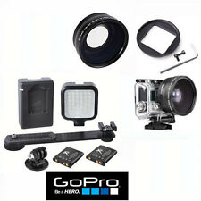 HD WIDE ANGLE LENS + 36 LED LIGHT FOR GOPRO HERO4 BLACK AND SILVER EDITION