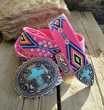 Cowgirl Bling AZTEC  Belt Native CROSS Gypsy Boho Southwest MONTANA WEST SMALL